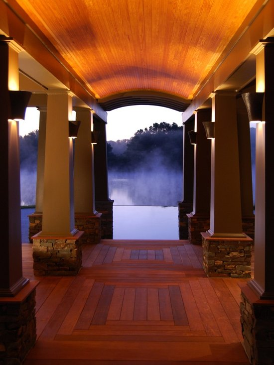 Architectural Columns Frame The Infinity Pool View