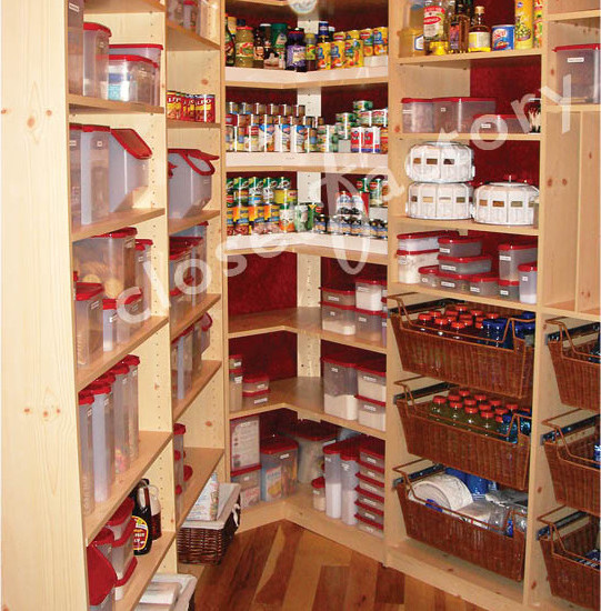 Small Walk In Maple Melamine Pantry