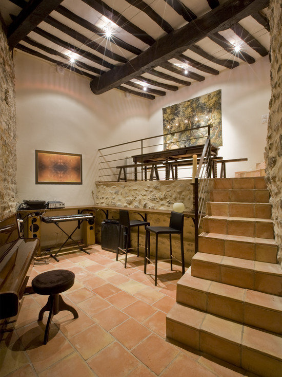 A Former Stable Now Used For Music Room Entertaining Space