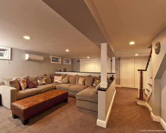 Modern Contemporary Basement Design Build Remodel
